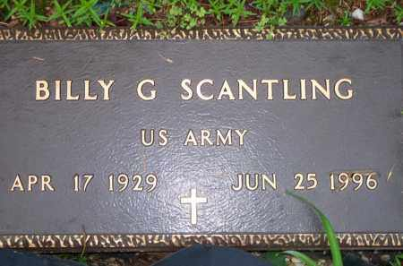 SCANTLING  (VETERAN), BILLY G - Scott County, Arkansas | BILLY G SCANTLING  (VETERAN) - Arkansas Gravestone Photos
