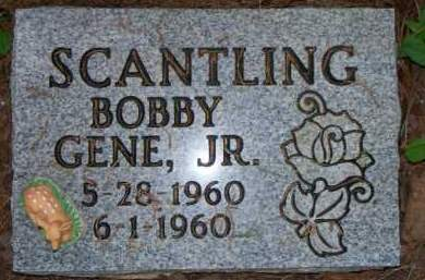 SCANTLING, JR, BOBBY GENE - Scott County, Arkansas | BOBBY GENE SCANTLING, JR - Arkansas Gravestone Photos