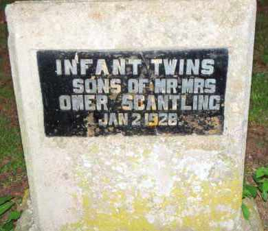 SCANTLING, TWIN SONS - Scott County, Arkansas | TWIN SONS SCANTLING - Arkansas Gravestone Photos