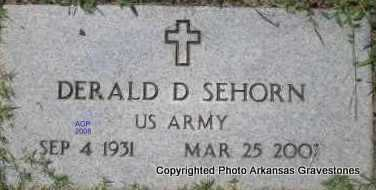 SEHORN  (VETERAN), DERALD D - Scott County, Arkansas | DERALD D SEHORN  (VETERAN) - Arkansas Gravestone Photos