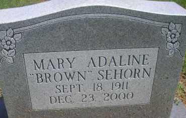SEHORN, MARY ADALINE - Scott County, Arkansas | MARY ADALINE SEHORN - Arkansas Gravestone Photos