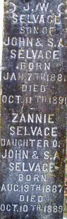 SELVAGE, ZANNIE - Scott County, Arkansas | ZANNIE SELVAGE - Arkansas Gravestone Photos