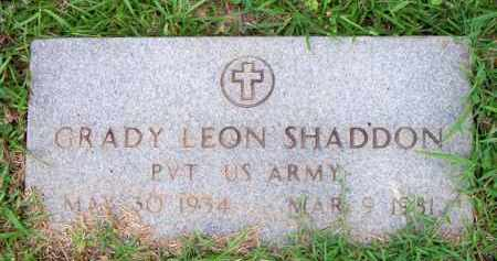 SHADDON  (VETERAN), GRADY LEON - Scott County, Arkansas | GRADY LEON SHADDON  (VETERAN) - Arkansas Gravestone Photos