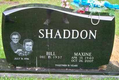 SHADDON, MAXINE - Scott County, Arkansas   MAXINE SHADDON - Arkansas Gravestone Photos
