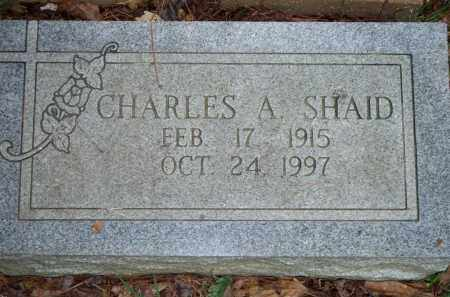 SHAID, CHARLES A - Scott County, Arkansas | CHARLES A SHAID - Arkansas Gravestone Photos
