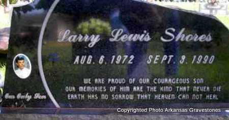 SHORES, LARRY LEWIS - Scott County, Arkansas | LARRY LEWIS SHORES - Arkansas Gravestone Photos