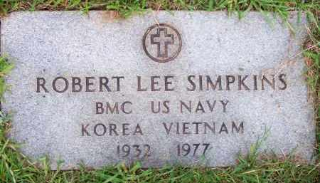 SIMKINS  (VETERAN 2 WARS), ROBERT LEE - Scott County, Arkansas | ROBERT LEE SIMKINS  (VETERAN 2 WARS) - Arkansas Gravestone Photos