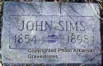 SIMS, JOHN - Scott County, Arkansas | JOHN SIMS - Arkansas Gravestone Photos