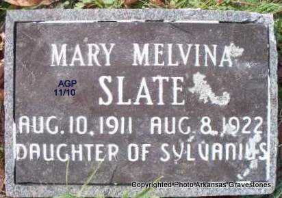 SLATE, MARY MELVINA - Scott County, Arkansas | MARY MELVINA SLATE - Arkansas Gravestone Photos