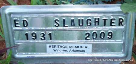 SLAUGHTER, ED - Scott County, Arkansas | ED SLAUGHTER - Arkansas Gravestone Photos