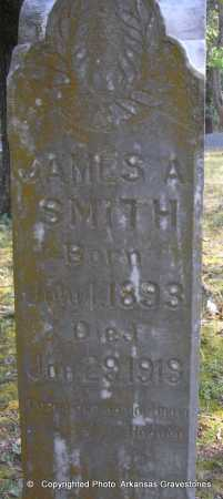 SMITH, JAMES A - Scott County, Arkansas | JAMES A SMITH - Arkansas Gravestone Photos