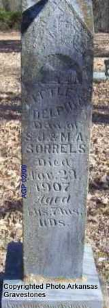 SORRELS, DELPHIA - Scott County, Arkansas | DELPHIA SORRELS - Arkansas Gravestone Photos