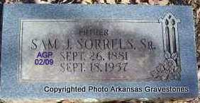 SORRELS, SR, SAMUEL J - Scott County, Arkansas   SAMUEL J SORRELS, SR - Arkansas Gravestone Photos