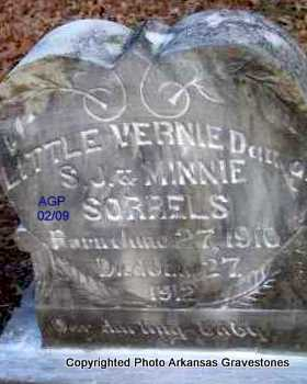 SORRELS, VERNIE - Scott County, Arkansas | VERNIE SORRELS - Arkansas Gravestone Photos