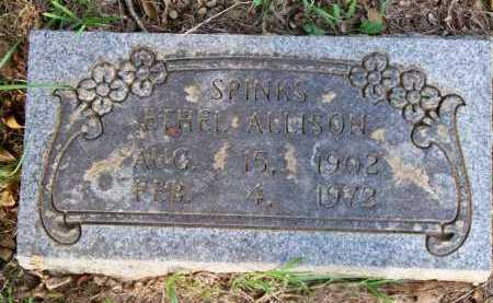 ALLISON SPINKS, ETHEL - Scott County, Arkansas | ETHEL ALLISON SPINKS - Arkansas Gravestone Photos