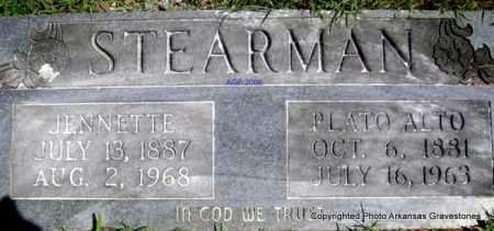 STEARMAN, JENNETTE - Scott County, Arkansas | JENNETTE STEARMAN - Arkansas Gravestone Photos