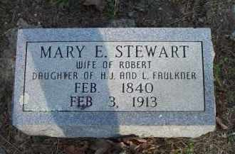FAULKNER STEWART, MARY E - Scott County, Arkansas | MARY E FAULKNER STEWART - Arkansas Gravestone Photos