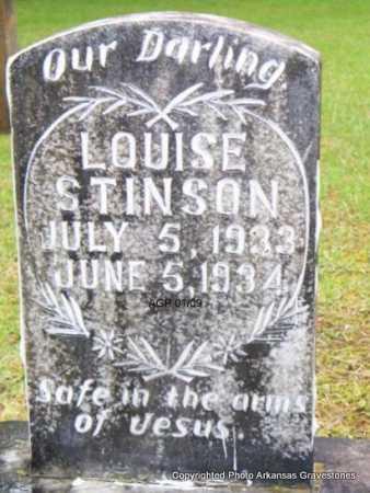 STINSON, LOUISE - Scott County, Arkansas | LOUISE STINSON - Arkansas Gravestone Photos