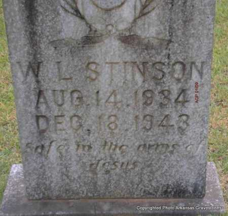 STINSON, W  L - Scott County, Arkansas | W  L STINSON - Arkansas Gravestone Photos