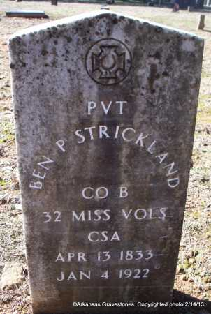 STRICKLAND  (VETERAN CSA), BEN P - Scott County, Arkansas | BEN P STRICKLAND  (VETERAN CSA) - Arkansas Gravestone Photos