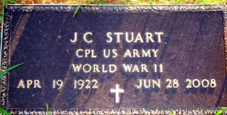 STUART  (VETERAN WWII), J C - Scott County, Arkansas | J C STUART  (VETERAN WWII) - Arkansas Gravestone Photos
