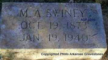 SWINEY, M  A - Scott County, Arkansas | M  A SWINEY - Arkansas Gravestone Photos