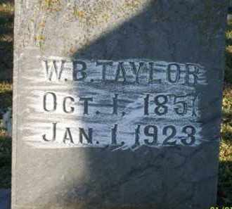TAYLOR, WILLIAM B - Scott County, Arkansas | WILLIAM B TAYLOR - Arkansas Gravestone Photos