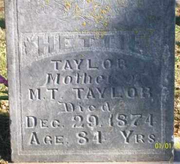 TAYLOR, HETTIE - Scott County, Arkansas | HETTIE TAYLOR - Arkansas Gravestone Photos