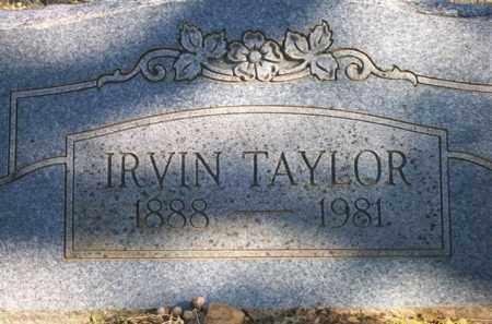 TAYLOR, IRVIN - Scott County, Arkansas | IRVIN TAYLOR - Arkansas Gravestone Photos
