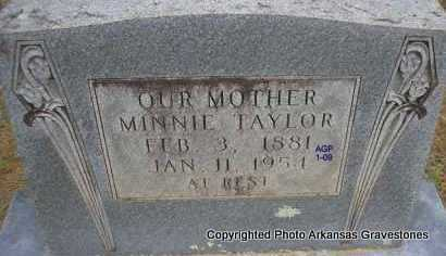 TAYLOR, MINNIE - Scott County, Arkansas | MINNIE TAYLOR - Arkansas Gravestone Photos