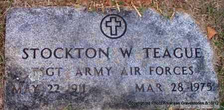 TEAGUE  (VETERAN), STOCKTON W - Scott County, Arkansas | STOCKTON W TEAGUE  (VETERAN) - Arkansas Gravestone Photos