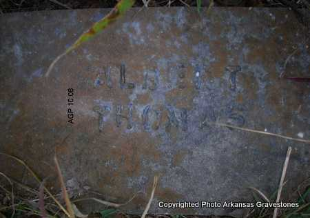 THOMAS, ALBERT - Scott County, Arkansas | ALBERT THOMAS - Arkansas Gravestone Photos