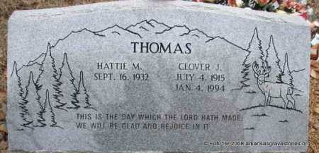 THOMAS, CLOVER J - Scott County, Arkansas | CLOVER J THOMAS - Arkansas Gravestone Photos