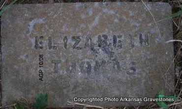 THOMAS, ELIZABETH - Scott County, Arkansas | ELIZABETH THOMAS - Arkansas Gravestone Photos