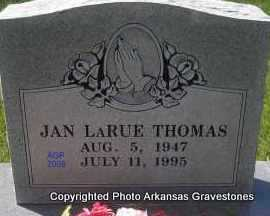 LARUE THOMAS, JAN - Scott County, Arkansas | JAN LARUE THOMAS - Arkansas Gravestone Photos