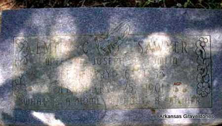 SAWYER TOMLIN, EMILY C - Scott County, Arkansas | EMILY C SAWYER TOMLIN - Arkansas Gravestone Photos