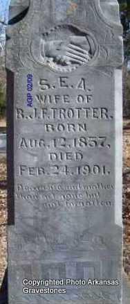TROTTER, S  E  A - Scott County, Arkansas | S  E  A TROTTER - Arkansas Gravestone Photos