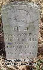 TULL, OLA - Scott County, Arkansas | OLA TULL - Arkansas Gravestone Photos