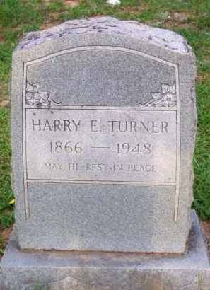 TURNER, HARRY E - Scott County, Arkansas | HARRY E TURNER - Arkansas Gravestone Photos