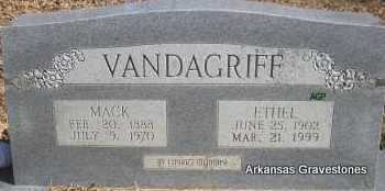VANDAGRIFF, MACK - Scott County, Arkansas | MACK VANDAGRIFF - Arkansas Gravestone Photos