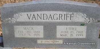 VANDAGRIFF, ETHEL EDWARDS - Scott County, Arkansas | ETHEL EDWARDS VANDAGRIFF - Arkansas Gravestone Photos