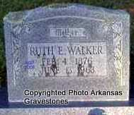WALKER, RUTH - Scott County, Arkansas | RUTH WALKER - Arkansas Gravestone Photos