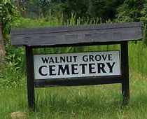 *WALNUT GROVE, CEMETERY SIGN - Scott County, Arkansas | CEMETERY SIGN *WALNUT GROVE - Arkansas Gravestone Photos