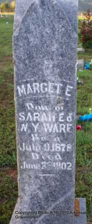 WARE, MARGET E - Scott County, Arkansas | MARGET E WARE - Arkansas Gravestone Photos
