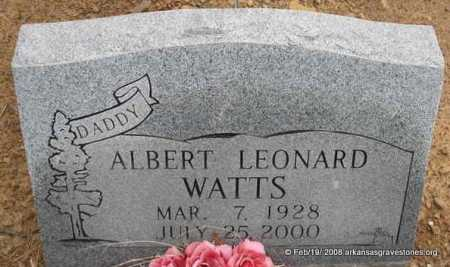 WATTS, ALBERT LEONARD - Scott County, Arkansas | ALBERT LEONARD WATTS - Arkansas Gravestone Photos