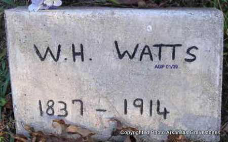 WATTS, WILLIAM HENRY - Scott County, Arkansas | WILLIAM HENRY WATTS - Arkansas Gravestone Photos
