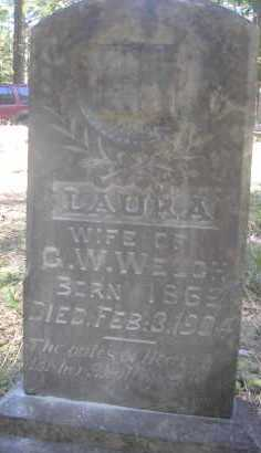 WELCH, LAURA - Scott County, Arkansas | LAURA WELCH - Arkansas Gravestone Photos