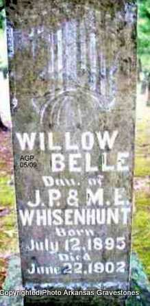 WHISENHUNT, WILLOW BELLE - Scott County, Arkansas | WILLOW BELLE WHISENHUNT - Arkansas Gravestone Photos