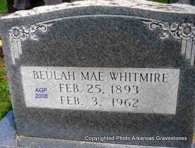 WHITMIRE, BEULAH MAE - Scott County, Arkansas | BEULAH MAE WHITMIRE - Arkansas Gravestone Photos