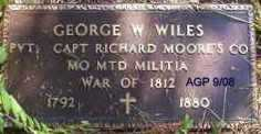 WILES (VETERAN 1812), GEORGE W - Scott County, Arkansas | GEORGE W WILES (VETERAN 1812) - Arkansas Gravestone Photos